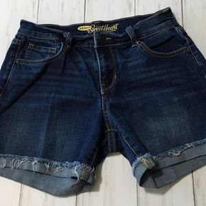 Old Navy The Sweetheart Denim Jean Shorts Sz 0